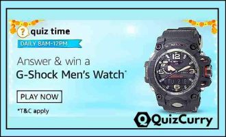 Amazon Daily Quiz Answers 29th October 2020 win G-Shock Men's Watch