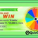 Amazon Spin and win Quiz Answers- win iPhone 11 & more