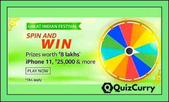 Amazon Spin And Win Quiz Answer