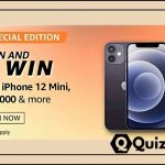 Amazon Spin And Win Quiz Answers- Win iPhone 12 Mini