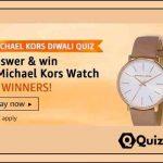 Amazon Michael Kors Diwali Quiz Answers - Win Michael Kors Watch.