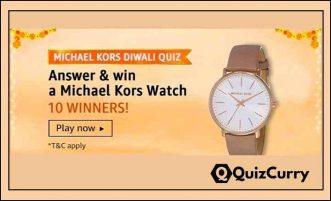 Michael Kors Diwali Quiz Answers