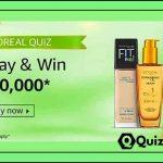 Amazon Loreal Quiz Answers- Win Rs. 10,000 Pay Balance