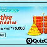 Amazon Festive Riddles Quiz Answer win Rs. 75,000/- Pay Balance