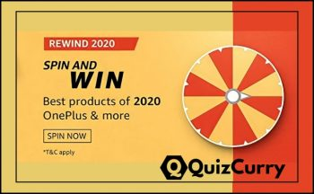 Amazon Spin And Win Rewind Quiz Answer 26 November
