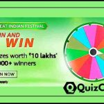 "Amazon Spin and win Quiz Answers ""Prizes worth Rs. 10 Lakhs"""