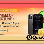 Amazon Wheel of Fortune Quiz Answer 8th November Win iPhone 12 Pro