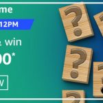 Amazon Quiz Answers today 25th December 2020 win Rs 20000 Pay Balance
