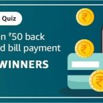 Amazon Credit Card Bill Quiz Answers 23rd December