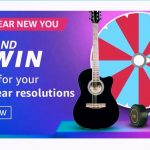 Amazon New Year New You Quiz Answers Spin and Win Prizes