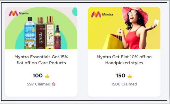 Myntra Gift Coupon Voucher