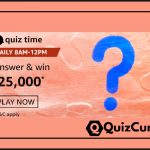 Amazon Quiz Answers Today 2nd December 2020 Win Rs 25,000/-