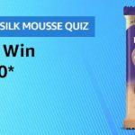 Amazon Cadbury Silk Mousse Quiz Answers Win Rs.10000 Pay Balance