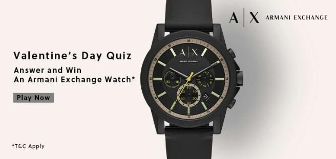 Amazon Armani Exchange Valentine's Day Quiz Answers