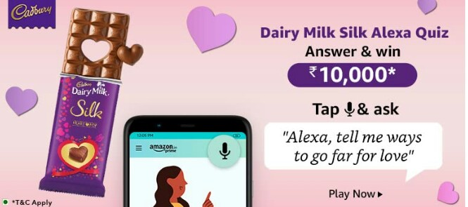 Amazon Dairy Milk Silk Alexa Quiz Answers