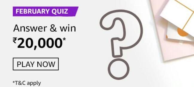 Amazon February Quiz Answers