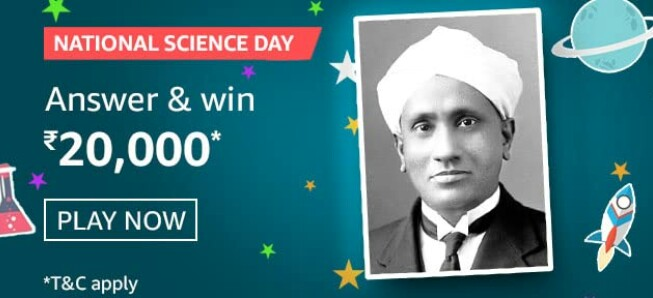 Amazon National Science Day Quiz Answers